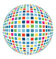 colorful abstract mosaic sphere 3d background vector image vector image