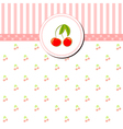 Colorful Cherry Greeting Card vector image vector image