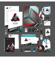 corporate style red robot technology turquoise vector image
