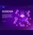 cryptocurrency and blockchain concept farm for vector image vector image