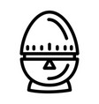 egg timer icon outline style
