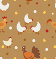 Farm birds pattern vector image vector image