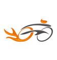 fire bike racing template vector image