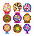 fortune wheel and casino roulette isolated round vector image