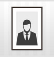 frame with man vector image