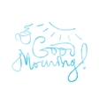 Good morning lettering vector image