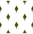 green tree pattern flat vector image vector image