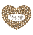 hand-drawn coffee heart with lettering vector image vector image