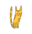 Hand drawn of cute domestic cat vector image vector image