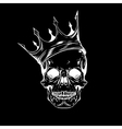 Hand drawn sketch scull with crown Tattoo line art vector image