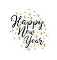 happy new year lettering typographic card vector image vector image