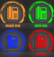 home phone icon Fashionable modern style In the vector image