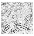 How To Pick A Helicopter School For Training Word vector image vector image