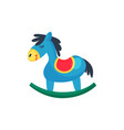 icon of blue plastic rocking horse little pony vector image vector image