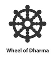 Icon of Wheel of Dharma symbol Buddhism religion vector image vector image