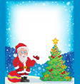 image with santa claus theme 9 vector image vector image