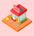 isolated cafe icon building vector image