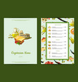 italian cuisine cafe or restaurant menu vector image