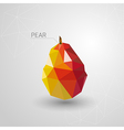Juicy pear polygon vector image vector image