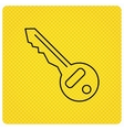 Key icon Door unlock tool sign vector image vector image