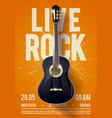live classic rock music poster for concert vector image