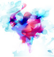 magenta and blue colorful blot spread to the light vector image vector image