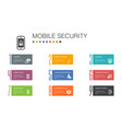 mobile security infographic 10 option line concept vector image vector image