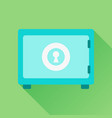 money safe icon in flat style on green background vector image vector image