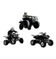 motor sport trio vector image