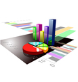 multicolored graph vector image vector image