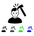 murder with hammer flat icon vector image vector image