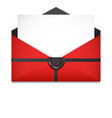 open envelope sealing wax st valentines day vector image vector image