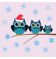 owl snow family vector image vector image