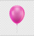 pink realistic balloon vector image vector image