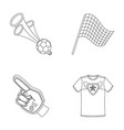 pipe uniform and other attributes of the fans vector image vector image
