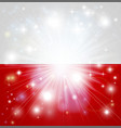 polish flag background vector image vector image