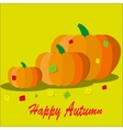 Pumpkin with colorful autumn vector image vector image