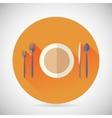 Restaurant Cuisine Meals Symbol Plate Spoon Fork vector image