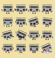 retro radio character emoji set vector image