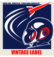 Retro Space Label vector image vector image