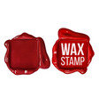 retro square red wax stamp with copy space vector image
