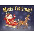 Santa sleigh and reindeer vector image vector image