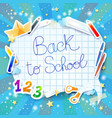 school background with bubble vector image