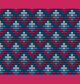 seamless blue squares knitting wallpaper vector image vector image