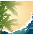 Seashore background vector image vector image