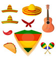 set items in national style a mexican vector image vector image