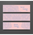 Set of banners with trendy colors vector image vector image