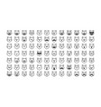 set of black cat emoji vector image