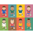 Set of national soccer team uniform football play vector image