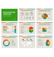 set presentation template 3d infographic vector image vector image